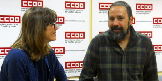 Javier Moreno junto a Isolda Morales, este viernes. /SN