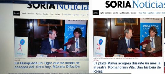 La noticia real y la manipulada