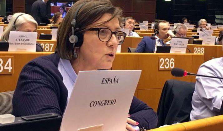 Angulo, en el Parlamento Europeo.