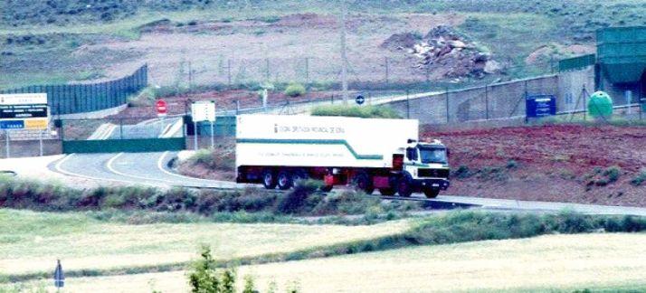 Camión de RSU en la planta de Ágreda./SN
