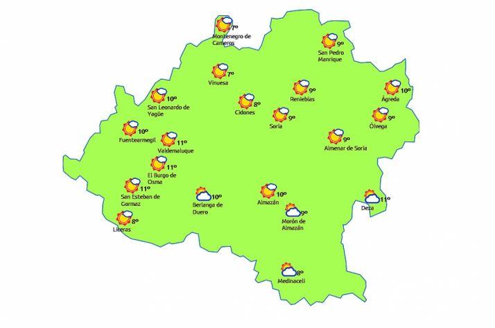 Pronóstico para este martes./eltiempo.es