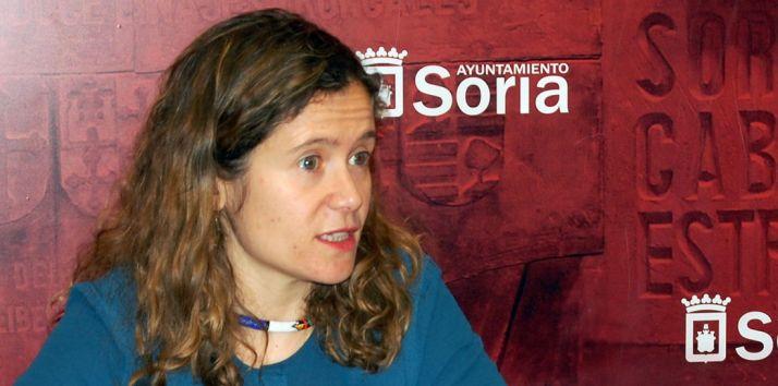 Marta Cáceres en rueda informativa./Ayto.