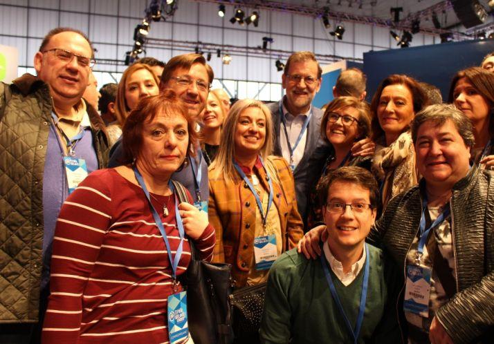 Representantes del PP con Rajoy.