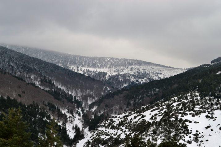 Vistas invernales desde el puerto de Santa Inés (Soria). /SN