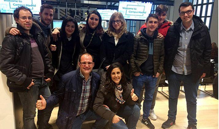 Alumnos y profesores en Madrid.
