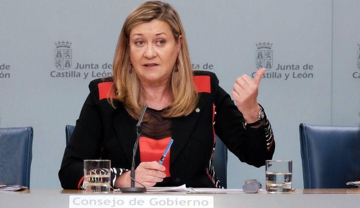 Pilar del Olmo, consejera de Economía y Hacienda, este jueves. / Jta.