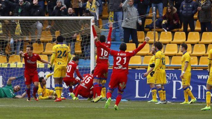 Imagen del gol del Numancia/LFP