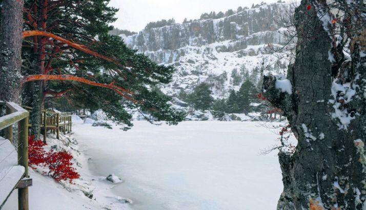 Vista invernal de la Laguna Negra./SN