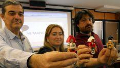 Santamaría (izda.), Jiménez y García en la presentación de las actividades de Tierraquemada./SN
