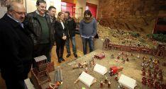 Representantes de las instituciones en la presentación de la muestra en Garray./SN