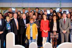 Imagen de la visita de SAR la Reina a El Hueco. /Jta.
