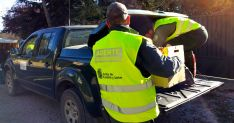 Agentes con su vehículo en Soria./Jta.