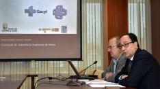 Enrique Delgado y Manuel López en la presentación del informe./Jta.