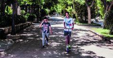Dos niños saharauis el pasado verano en la capital. /David Almajano