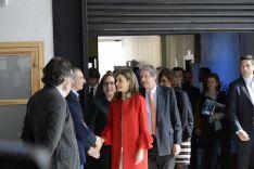 S. A. R. Doña Letizia saludando a las autoridades. /Patricia Lapresta