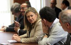 Pilar del Olmo, este viernes en la Delegación Territorial de la Junta. /SN