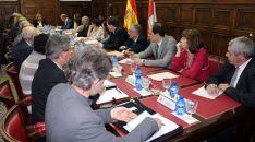 Imagen de la reunión este viernes./S. del G.