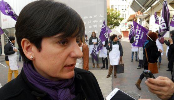 Ana Romero, de CC OO este miércoles./SN