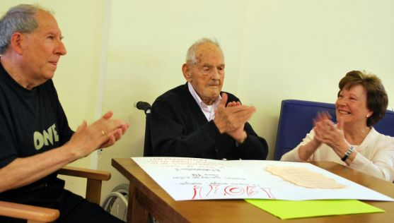 Francisco Delso, este jueves celebrando su cumpleaños. /SN