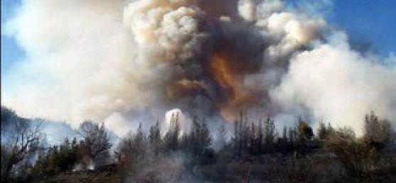 Imagen del incendio./Brif Tabuyo