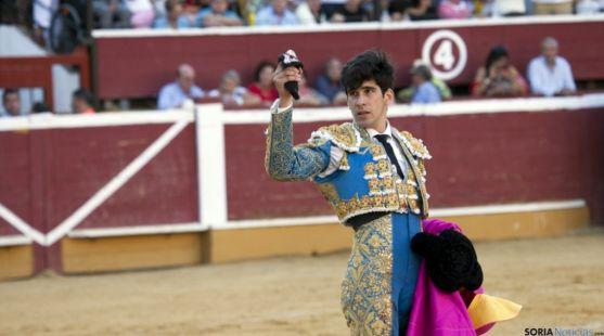 López Simón en el coso de San Benito el año pasado./SN