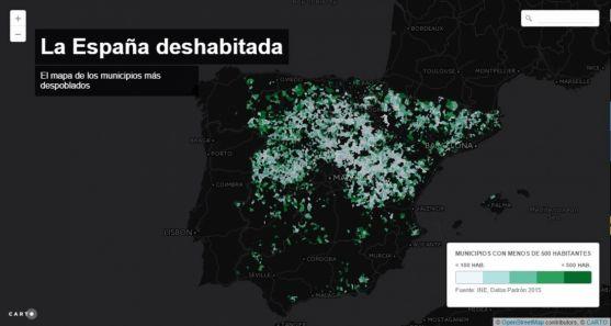 Drama poblacional en el interior de España.