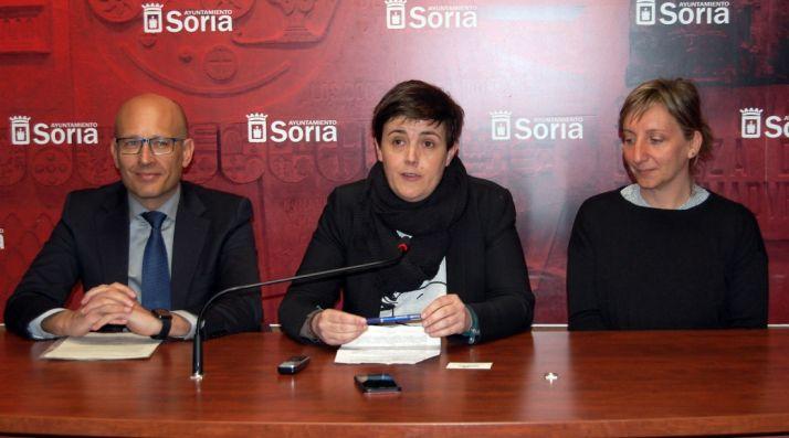 Alberto Fernández, Ana Alegre y Belén Santos. /Ayto.