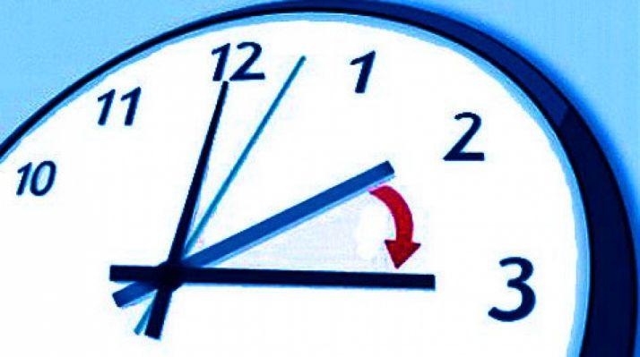 El domingo, a las 2:00 serán las 3:00.