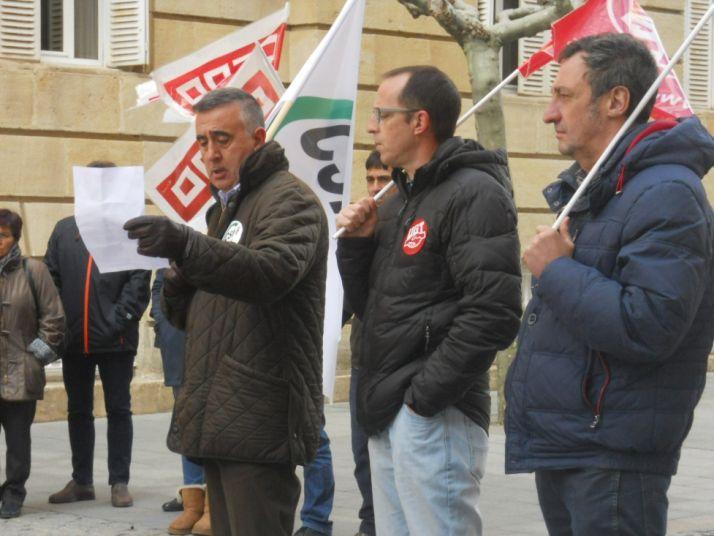 Imagen de la concentración de funcionarios este viernes./SN
