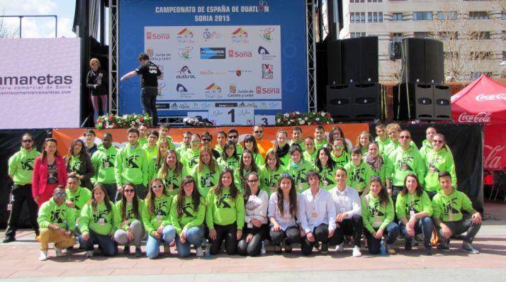 Voluntarios en el Nacional de 2015./FTCyL