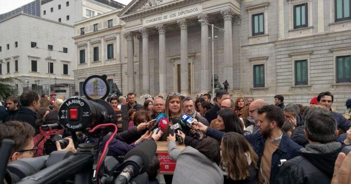 Día intenso para la madre de la añorada María García. /FTCYL