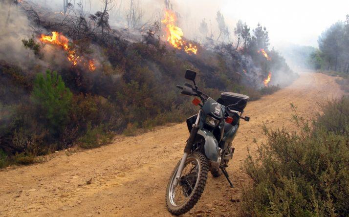 Un incendio en un monte de la Comunidad./GC