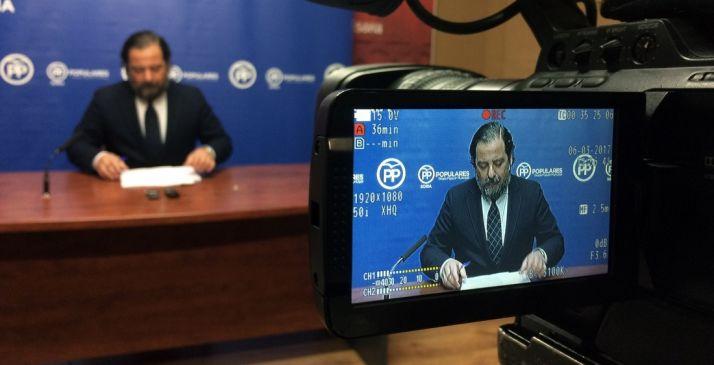José Manuel Hernando, este lunes en rueda de prensa./PP