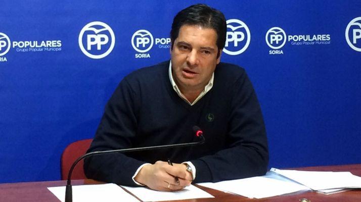 Javier Martín, este martes en rueda de prensa.
