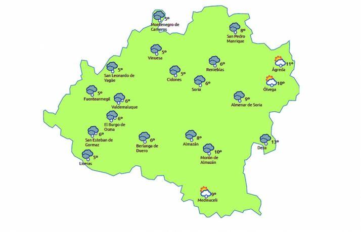 Lluvias generalizadas hoy./eltiempo.es