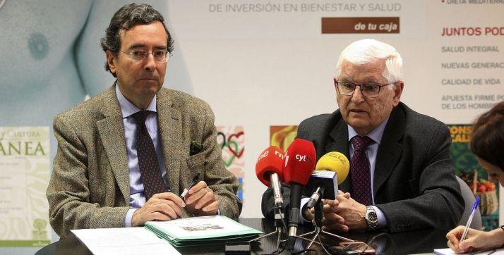 De Marichalar (izda.) y Ruiz Liso este miércoles. /SN
