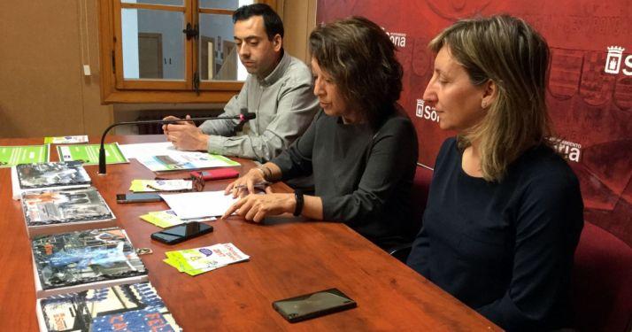 Santos, (dcha.), Andrés y Baena este miércoles. /Ayto.