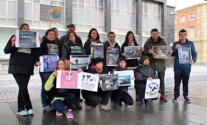 Algunos de los manifestantes. /SN