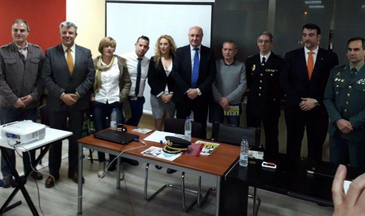 Los dos representantes sorianos (a la izquierda), en el encuentro en Madrid.