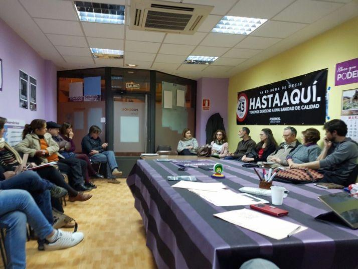 Imagen de la reunión/PODEMOS