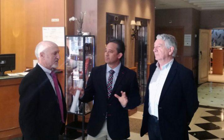 Andrés García, Fco. Javier Blanco y Amadeo Sagué. /SN