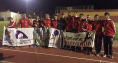 Atletas del Numantino en León.