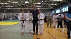 Foto 2 - Iván García, Estela Pardo y Silvia Arancón, al nacional infantil y cadete de judo