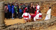 Visita recreada en Numancia la Semana Santa de 2016. /Archivo