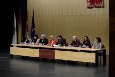 Autoridades durante el acto. /Patricia Lapresta
