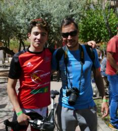 Lucas Izquierdo (a la izquierda) con Gorka Gamito, secretario del club/ DJTS