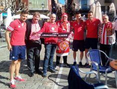 Aficionados del Girona en Soria. @GironaFC