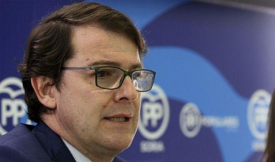 Fernández Mañueco en su última visita a Soria en marzo. /SN