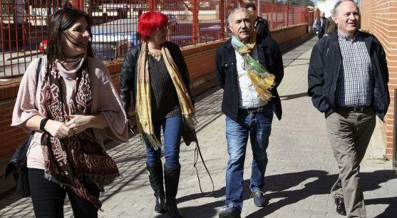 Pepe Álvarez (izda.) en su visita este jueves a Soria./SN