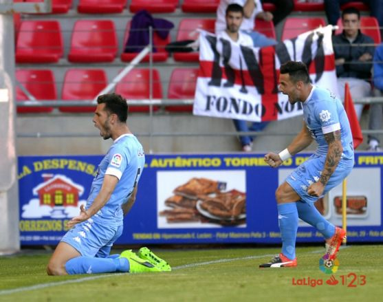 Alcalá celebra su primer gol. Liga123
